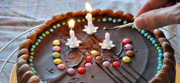 Prendre le temps - Tibonhomme a 3 ans ! - Gâteau d'anniversaire - Charlotte au chocolat