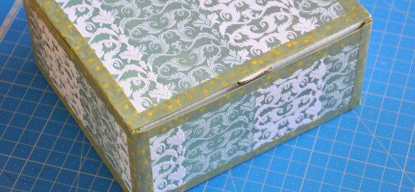 Prendre le temps - Décoration de boîte - papier - masking-tape - DIY